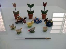 Miniaturas Da Fazendinha  Em Gesso E Madeira 11 Peças