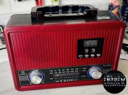 Título do anúncio: Rádio Retrô Am Fm Sw com Relógio e Lanterna