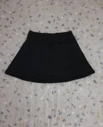 Short saia preto