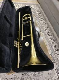 Título do anúncio: Trombone Pisto Sib Eagle Tv602, laqueado aceito trocas