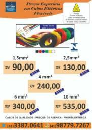 Cabos Flexíveis   1,5mm; 2,5mm; 4mm; 6mm; 10mm