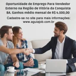 Título do anúncio: Oportunidade de Emprego P/ Vendedor Externo