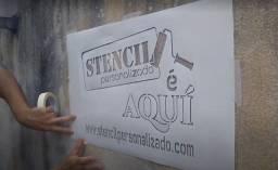 Título do anúncio: Stencil Estencil Personalizado Letra Vazada