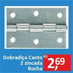 Dobradiça Canto 2 Zinc - Rocha - Promoção R$ 2,69