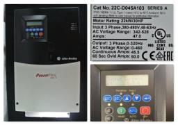 Allen Bradley PowerFlex 400 22C-D045A103 W/ 22-COMM-E Adaptor SER A