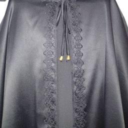 Título do anúncio: Capa preta com capuz
