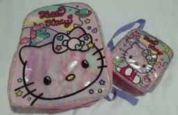 Título do anúncio: Kit Mochila e Lancheira Hello Kitty