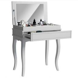 Penteadeira Escrivaninha Gaveta, Espelho em Madeira Maciça