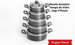 Título do anúncio: Panela de Alumínio Tampa Vidro no Crediário