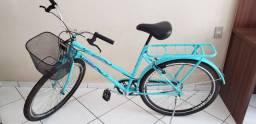 Bicicleta Cairu Genova Aro 26 - Cor Tiffany - Usada