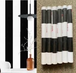 Título do anúncio: Papel Parede preto e branco listras adesivo