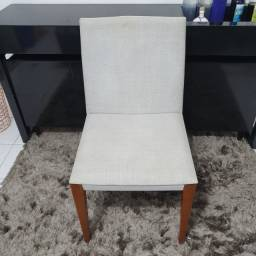 Jogo 4 cadeiras cinza claro. Usadas.
