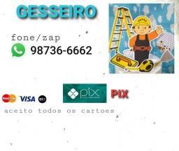 Título do anúncio: Gesseiro & pintor...