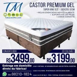 Título do anúncio: Conjunto  King Castor Premium Gel  32 CM Molas Ensacadas Individualmente!