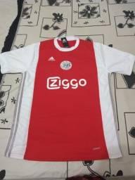 Camisa Ajax Branca e Vermelha
