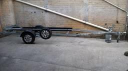 Carreta para barco ou lancha - 2016