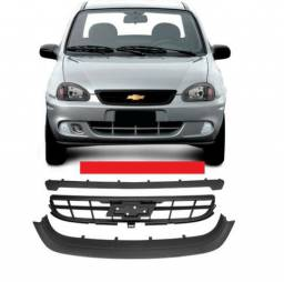 Grade Central Inferior E Superior Corsa Classic 09 10 Preta sem logo emblema dsd