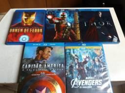 Filmes Fase 1 Marvel em Bluray (Primeiras Edições)