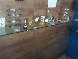 6 prateleiras de vidros