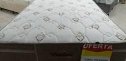 Conjunto de cama box solteirão de molas ensacadas