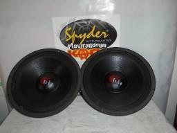 Par de Alto falantes Spyder 12 pol