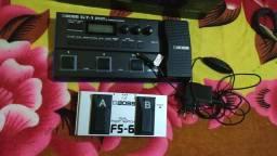 Pedaleira Boss GT1 com fonte original Roland +pedal fs6 boss