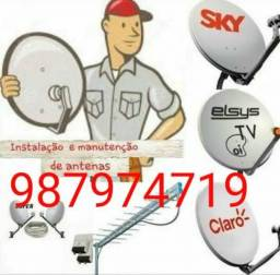 Faço apontamento e instalação de sky,claro,oi tv antena local etc