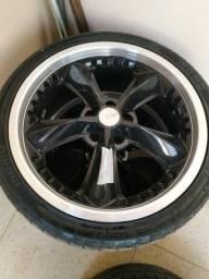 Roda 17 5x100 com pneus