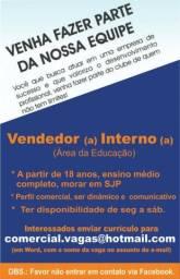 Vaga para Vendedor(a) Interno!!!