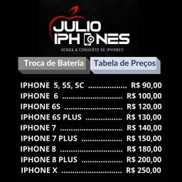 Troca de baterias IPhone 6,6s,7,7plus,8,8plus