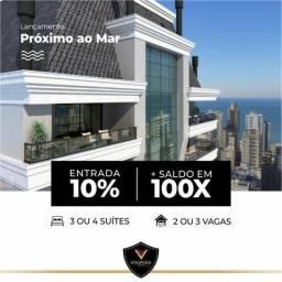 Investimento - 10% de entrada e saldo em ate 100X - Aptos com 3 ou 4 suites - Meia Praia