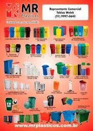 Caixas, lixeiras, baldes e cestos plásticos