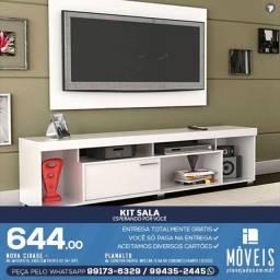 Painel de Tv Completo Com armário Estante Mdf Vários modelos