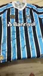 Camisa do Grêmio autógrafada