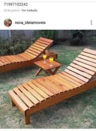 Cadeiras de praia ou varanda