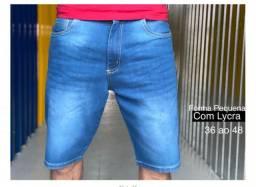 Bermuda Masculinas Jeans C\ Lycra Slim Fit grátis 1 boné.