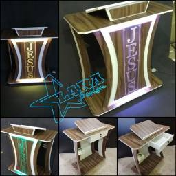 Título do anúncio: Púlpitos madeira com acrílico design moderno direto da Fábrica