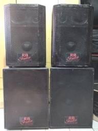 Título do anúncio: 2 pares de caixas ativas - 800 Watts RMS