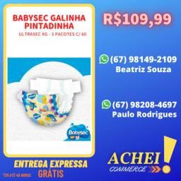 Fralda Babysec Galinha Pintadinha - Ultrasec Xg - 3 pacotes c/ 60 unidades