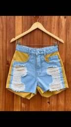 Título do anúncio: Short jeans bicolor