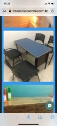 Título do anúncio: Jogo Mesa e cadeiras