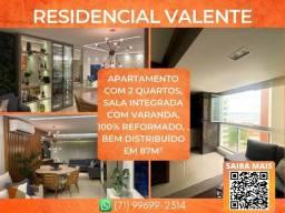 Título do anúncio: Residencial Valente, 2 quartos em 87m² com 2 vagas de garagem em Armação - Glamoroso
