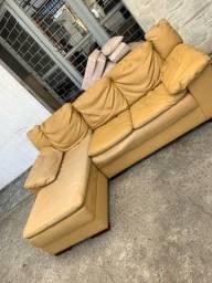 Título do anúncio: Sofá courino com chaise - entregamos hoje