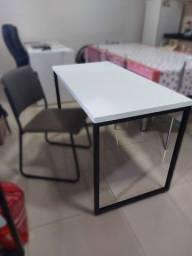 Mesa Para Escritório Soft Industrial 150 cm Branco - Lyam Decor