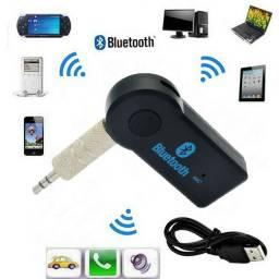 Kit: Antena barbatana de tubarão UNIVESAL + adaptador receptor Bluetooth para som