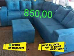 Título do anúncio: sofá azul sofá de canto