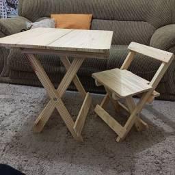 Título do anúncio: Mesa e cadeira infantil dobrável
