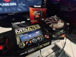 Título do anúncio: Kit Processador AMD (Placa-Mãe, Processador, Memória RAM e Cooler)