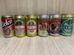 17 Latas de cerveja antigas