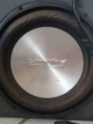 Caixa Selada Subwoofer Unlike 12 polegadas 160w Rms Bobina Dupla 4+4